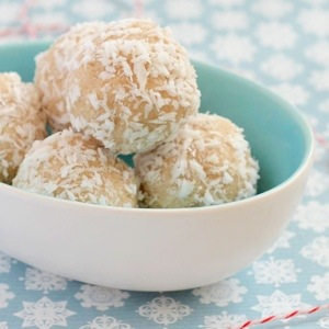 Healthy Coconut Truffles.