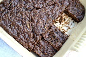 Chocolate Zucchini Brownies- no flour, sugar or dairy!