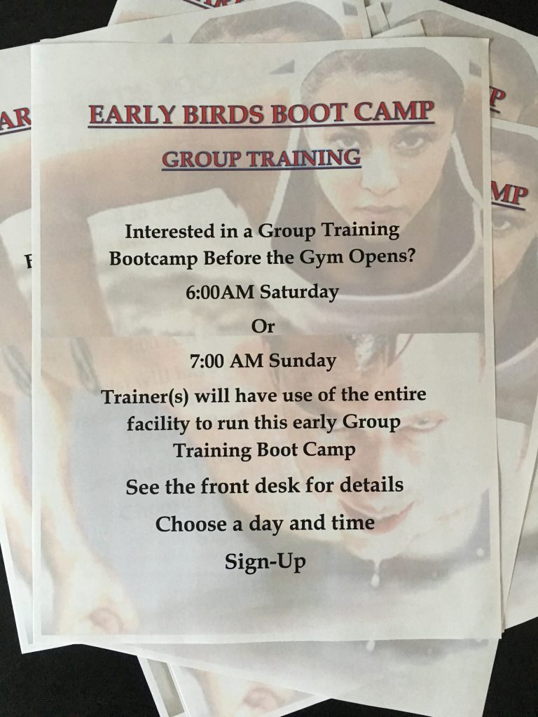 Early Birds Boot Camp