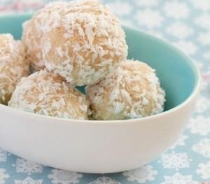Healthy Coconut Truffles.